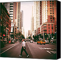 Street Canvas Prints - Speed Of Life - New York City Street Canvas Print by Vivienne Gucwa