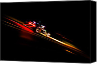 D700 Photo Canvas Prints - Speeding Hot Rod Canvas Print by Phil