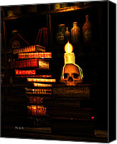 Halloween Digital Art Canvas Prints - Spells Canvas Print by Bob Orsillo