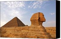 Unesco Canvas Prints - Sphinx of Giza Canvas Print by Jane Rix