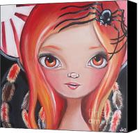 Jasmine Painting Canvas Prints - Spider Fairy Canvas Print by Jaz Higgins