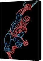 Comic Canvas Prints - Spider Man Canvas Print by Dean Caminiti