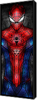 Avengers Canvas Prints - Spidey Canvas Print by Mandie Manzano