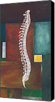 Room Canvas Prints - Spinal Column Canvas Print by Sara Young