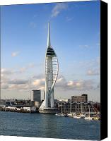 Unique Structure Canvas Prints - Spinnaker Tower Canvas Print by Jane Rix