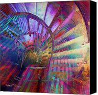 Spiral Staircase Canvas Prints - Spiral Staircase Canvas Print by Barbara Berney