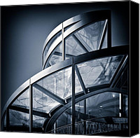 Shiny Photo Canvas Prints - Spiral Staircase Canvas Print by David Bowman