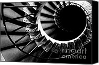 Staircase Canvas Prints - Spiral staircase Canvas Print by Fabrizio Troiani