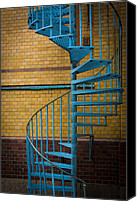 Spiral Staircase Canvas Prints - Spiral Staircase Canvas Print by Inge Johnsson