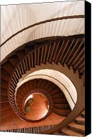 Shaker Canvas Prints - Spiral Staircase Canvas Print by Lone  Dakota Photography