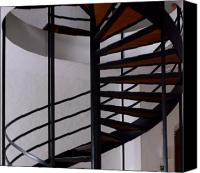 Spiral Staircase Canvas Prints - Spiral Staircase Canvas Print by Lori Seaman