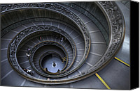 Featured Photo Canvas Prints - Spiral Staircase Canvas Print by Maico Presente