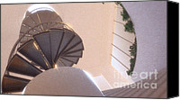 Spiral Staircase Canvas Prints - Spiral Staircase No. 2 Canvas Print by Gabriel Albin