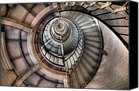 Spiral Staircase Canvas Prints - Spiral staircase Canvas Print by Quang Tran