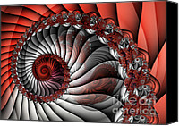 Spiral Staircase Canvas Prints - Spiral Stairs Canvas Print by Jutta Maria Pusl