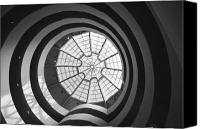 Guggenheim Canvas Prints - Spirals Canvas Print by Caroline Clark
