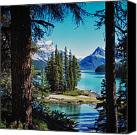 Mountain Photo Special Promotions - Spirit Island Canvas Print by Trever Miller
