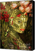 Rosy Hall Canvas Prints - Spirit of the Forest Canvas Print by Rosy Hall