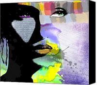 Woman Art Canvas Prints - Spirit Canvas Print by Ramneek Narang