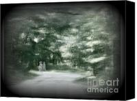 Creepy Digital Art Canvas Prints - Spirit Walk Canvas Print by Leslie Revels Andrews