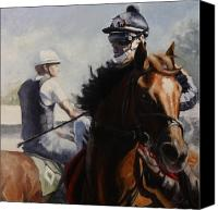Preakness Canvas Prints - Spirited Morning Canvas Print by Heather Burton