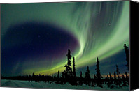 Aurora Borealis Canvas Prints - Spirits Flight Canvas Print by Ed Boudreau