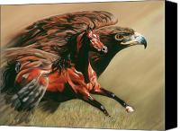 Equine Pastels Canvas Prints - Spirits Take Flight Canvas Print by Kim McElroy