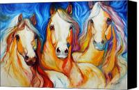 Abstract Equine Canvas Prints - Spirits Three Canvas Print by Marcia Baldwin