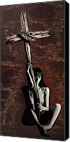 Crucifix Mixed Media Canvas Prints - Spirituality Comes From Within Not From Without Canvas Print by Iosua Tai Taeoalii