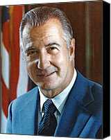 Agnew Canvas Prints - Spiro Agnew 39th Vice President Canvas Print by Everett