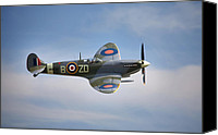 Mkix Canvas Prints - Spitfire mk9 Canvas Print by Ian Merton