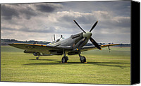 Mkix Canvas Prints - Spitfire ready to go Canvas Print by Ian Merton