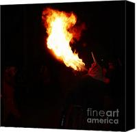 Pyrotechnics Canvas Prints - Spittin fire Canvas Print by Agusti Pardo Rossello