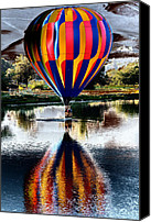 Slash Canvas Prints - Splash and Dash with a Hot Air Balloon Canvas Print by David Patterson
