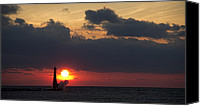Marquette Digital Art Canvas Prints - Splash of Sunset Canvas Print by Joe Gee