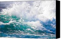 Beaches Special Promotions - Splash Canvas Print by TB Sojka