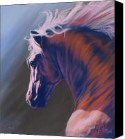 Equine Pastels Canvas Prints - Splendor Canvas Print by Kim McElroy
