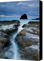 Crack Canvas Prints - Splitting Stone Canvas Print by Mike  Dawson