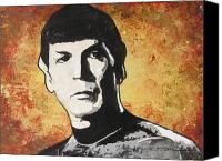 Rock And Roll Ceramics Canvas Prints - Spock One Up Canvas Print by Eric Dee