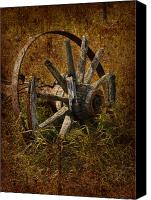 Rural Decay Framed Prints Canvas Prints - Spoke Canvas Print by Larysa Luciw