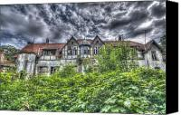Haunted House Photo Canvas Prints - Spooky house Canvas Print by Nathan Wright