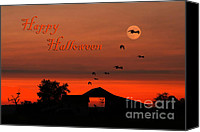 Evil Canvas Prints - Spooky Night Canvas Print by Darren Fisher