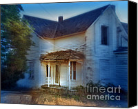 Dilapidated House Canvas Prints - Spooky Old House Canvas Print by Jill Battaglia