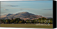Complex Canvas Prints - Sport Complex and The Butte Canvas Print by Robert Bales