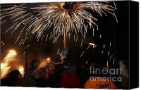 Pyrotechnics Canvas Prints - Spray of sparks Canvas Print by Agusti Pardo Rossello