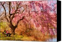 Away Canvas Prints - Spring - Sakura - A Beautiful Spring day  Canvas Print by Mike Savad