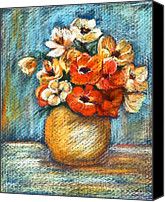 Fine Art - Still Lifes Canvas Prints - Spring Bouquet Canvas Print by Enzie Shahmiri