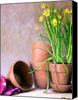 May Day Painting Canvas Prints - Spring Bouquet Canvas Print by Rick Hansen