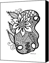 Freehand Drawing Canvas Prints - Spring Dreams Canvas Print by Billinda Brandli DeVillez