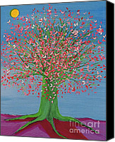 First Star Art By Jrr Canvas Prints - Spring Fantasy Tree by jrr Canvas Print by First Star Art